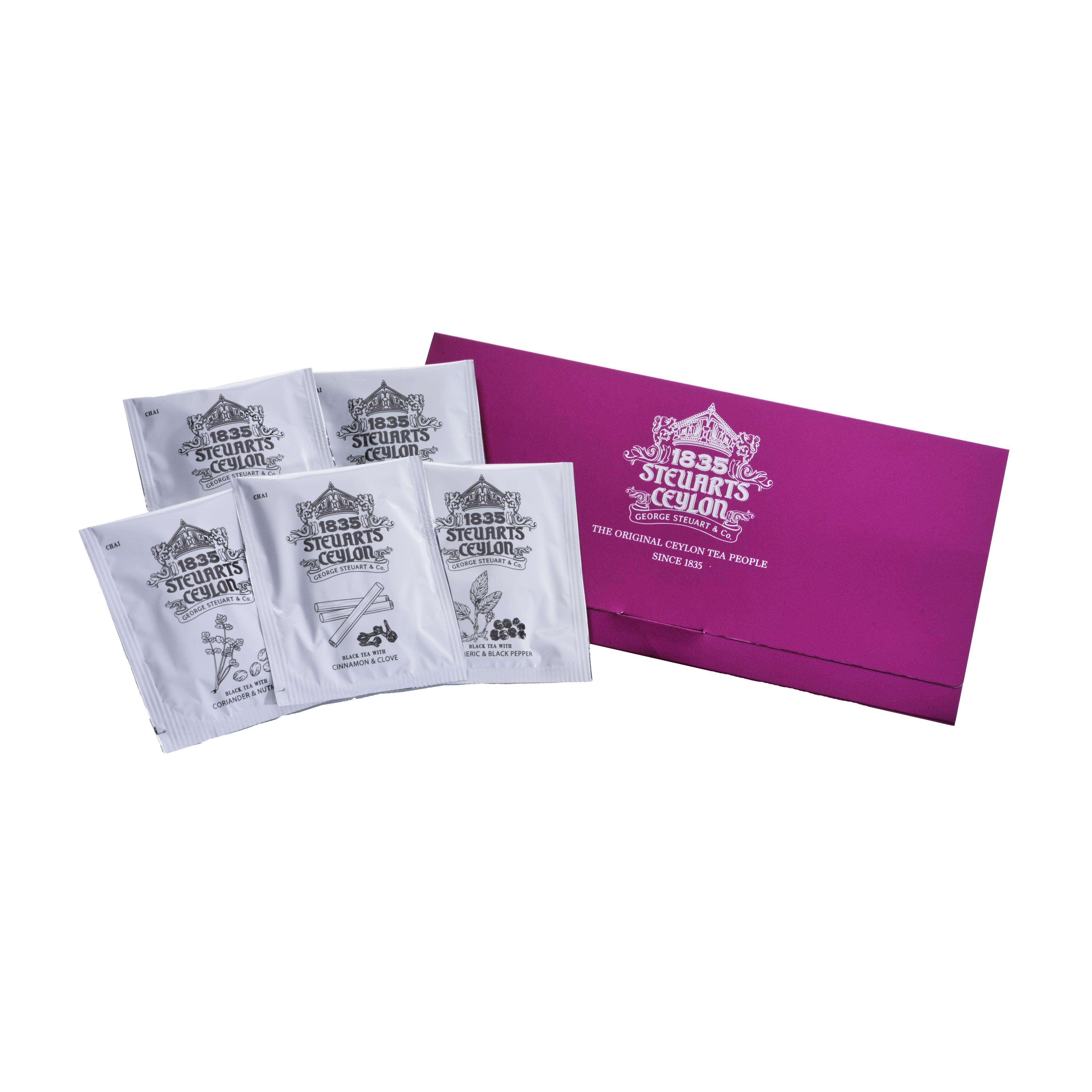 封筒型5種チャイ・George Steuart Tea (ジョージスチュアートティ)・赤タイプ