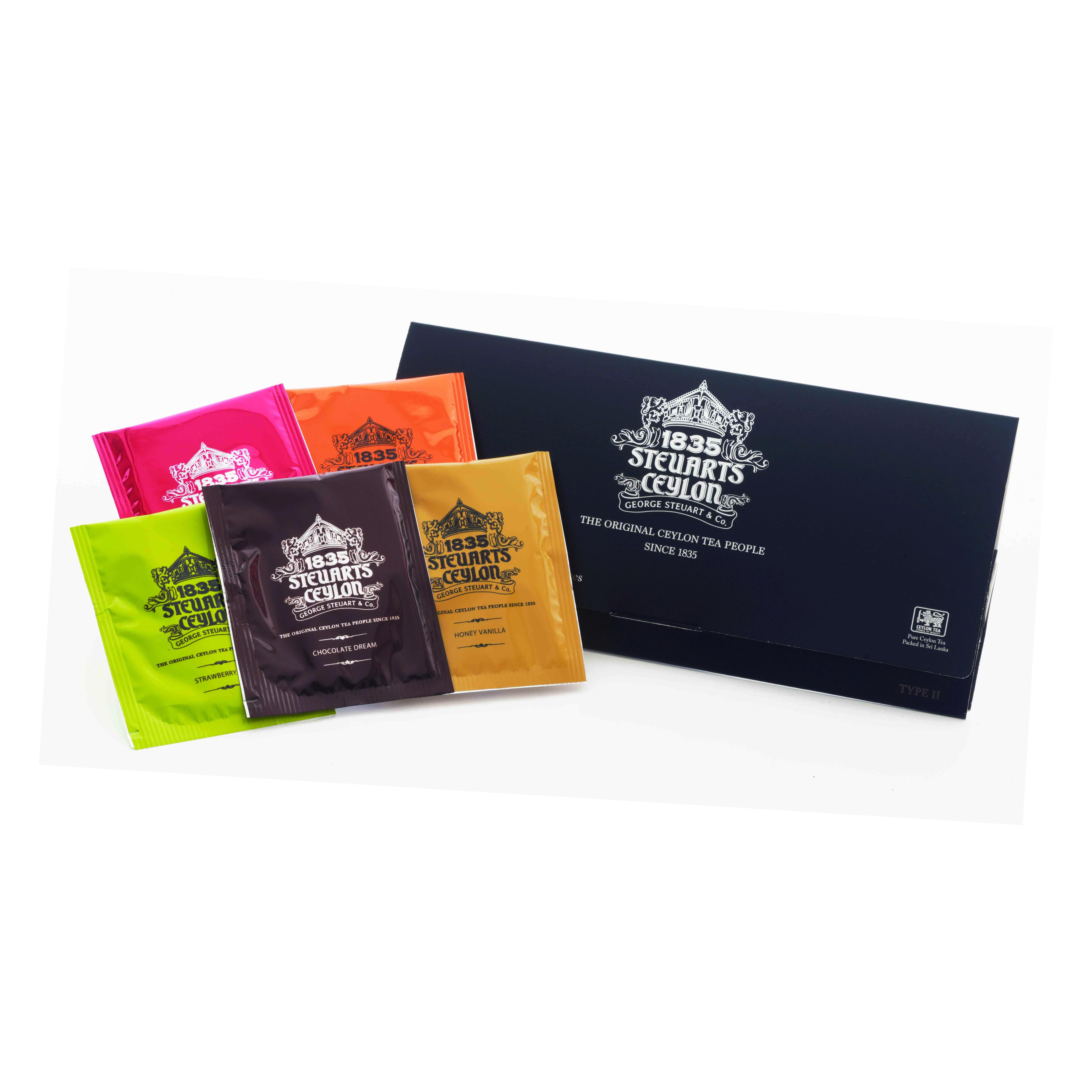 封筒型5種アソートティーバッグ・George Steuart Tea (ジョージスチュアートティ)・黒タイプの商品画像