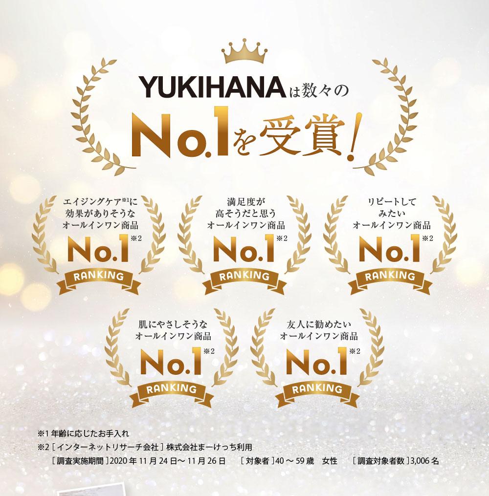 ユキハナは数々のNo.1を受賞!