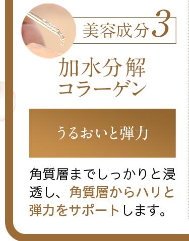 美容成分3:加水分解コラーゲン