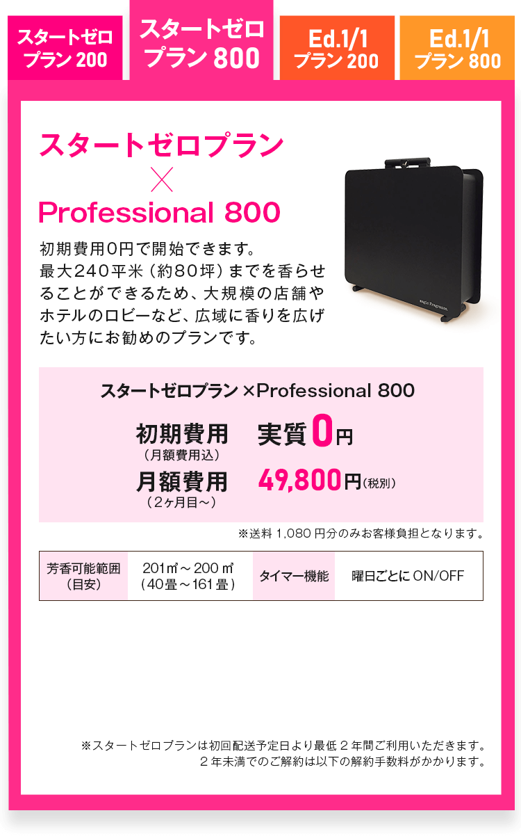 スタートゼロプラン Professional 800