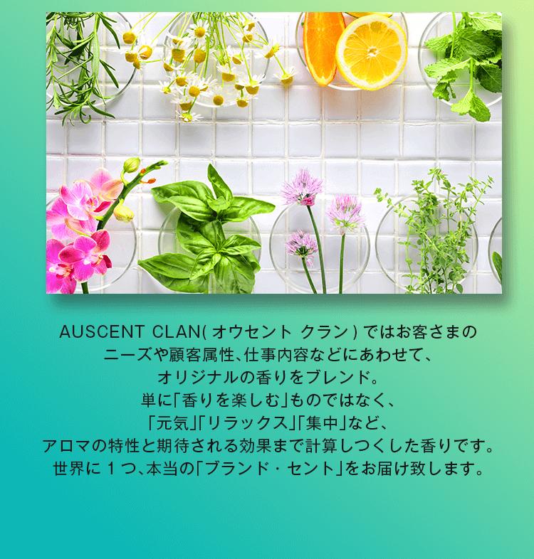お客様のニーズや顧客属性、仕事内容に合わせて、オリジナルの香りをブレンド