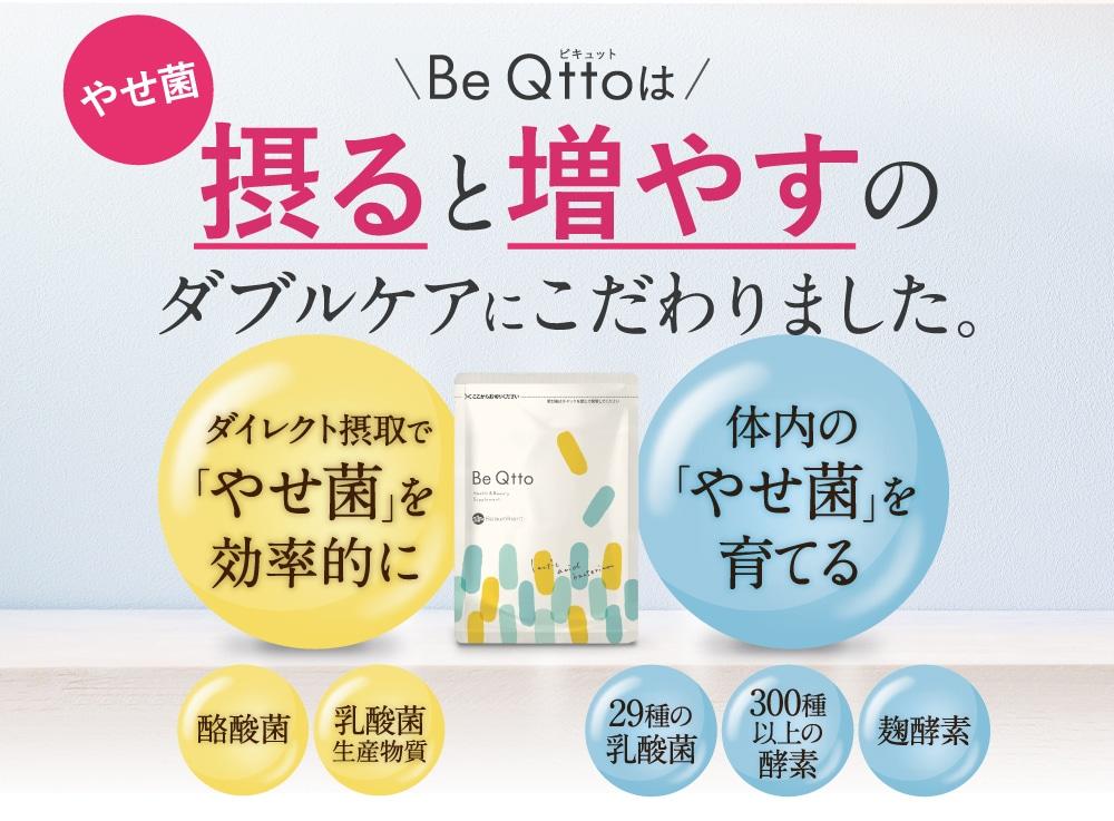 Be Qttoは摂ると増やすのダブルケアにこだわりました。