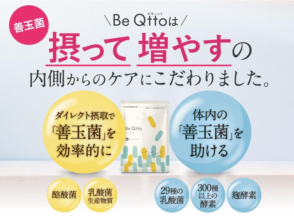 Be Qttoは摂って増やすの内側からのケアにこだわりました。