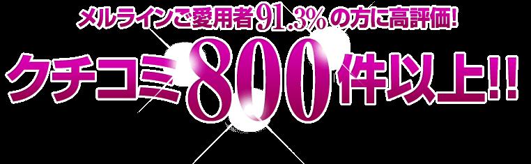 クチコミ800件以上!!
