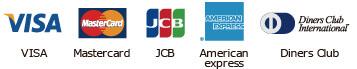 Visa Mastercard JCB Americanespress DinersClub
