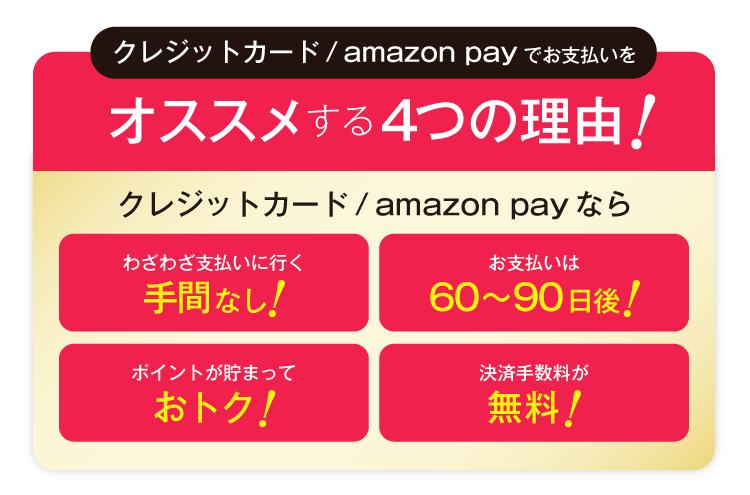 クレジットカード/AmazonPayがお得!