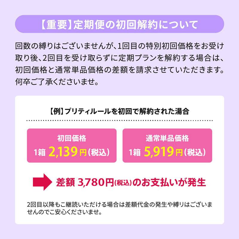 【重要】定期便の初回解約について