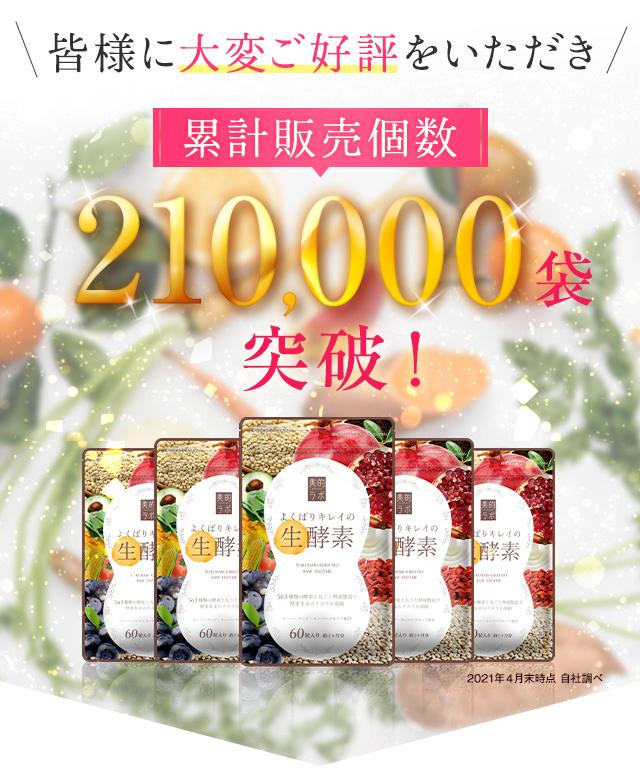皆様にご好評をいただき、累計販売個数210,000袋突破!