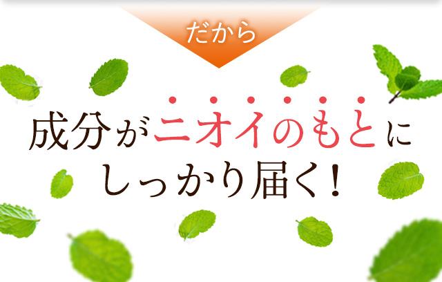 ポリグルタミン酸は、潤いをサポートする納豆菌由来の成分です。口をうるおすことで、ニオイを抑えます。
