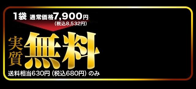 1袋通常価格7900円(税抜)→実質無料 送料(相当)630円(税抜)のみ