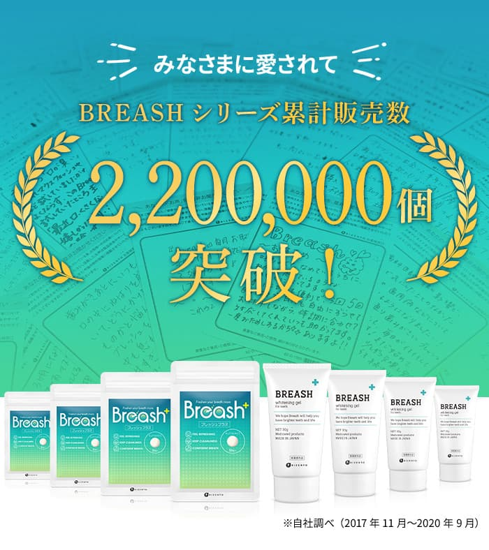 ブレッシュシリーズは皆様に愛されて累計販売数220万個突破