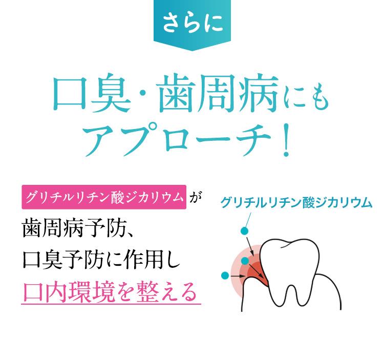さらに口臭・歯周病にもアプローチ