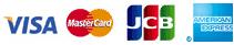 visa,MasterCard,JCB,AMERICAN EXPRESS