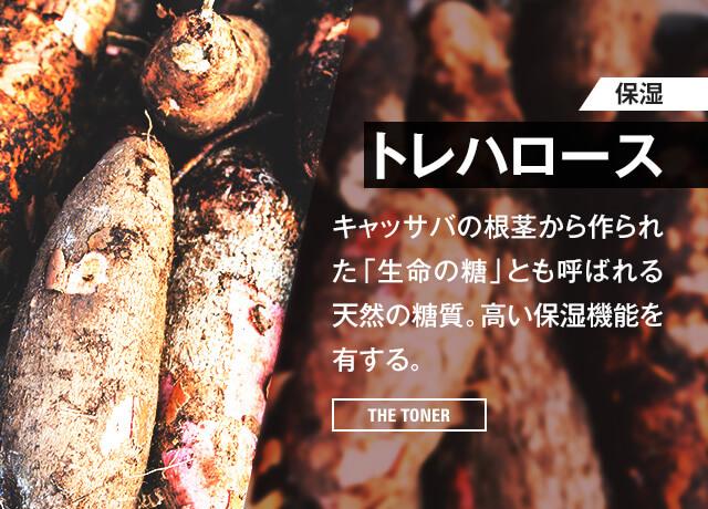 【保湿】トレハロース キャッサバの根茎から作られた「生命の糖」とも呼ばれる天然の糖質。高い保湿機能を有する。[THE TONER]
