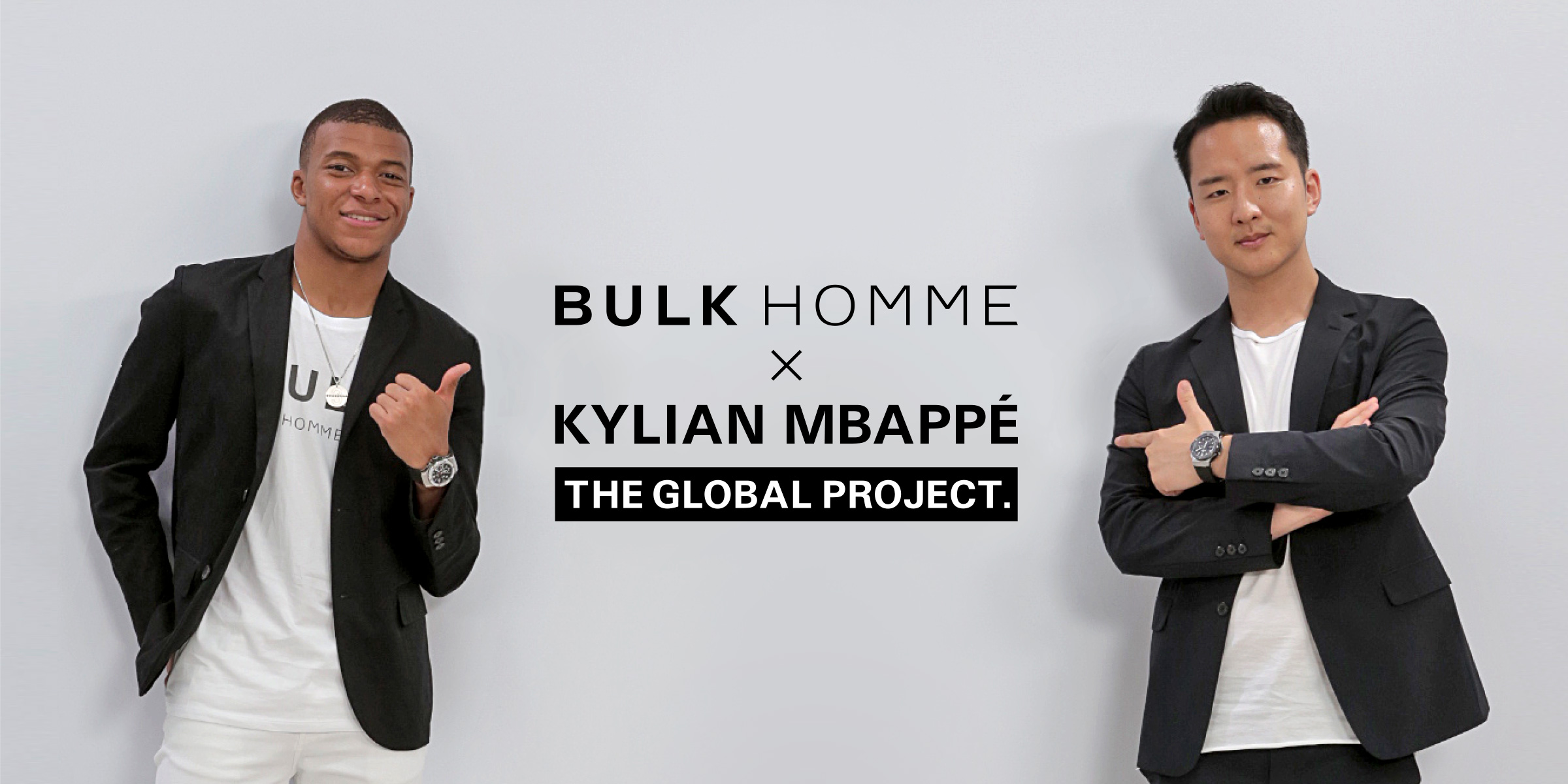 BULK HOMME×KYLIAN MBAPPÉ THE GROBAL PROJECT.