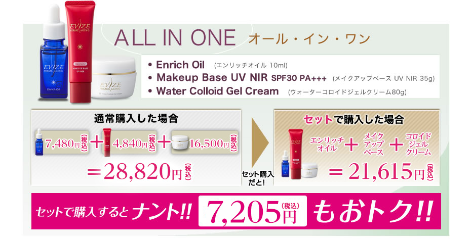 HIKARI AGING Night Repair Oil/MakeupBase UV/Water Colloid Gel Cream