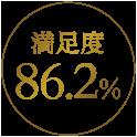 満足度86.2%