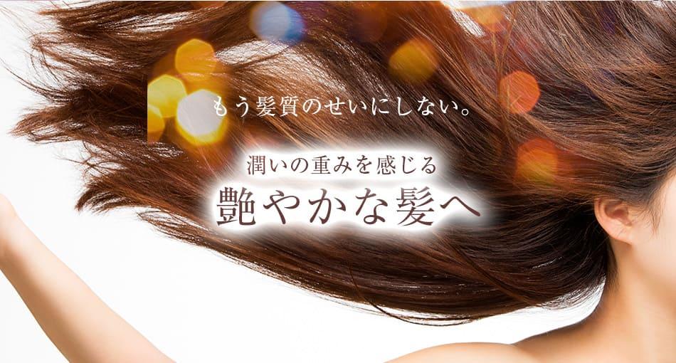 もう髪質のせいにしない、潤いの重みを感じる艷やかな髪へ