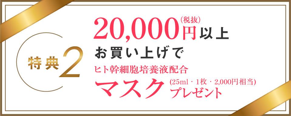 20,000円以上お買い上げでマスク1枚プレゼント