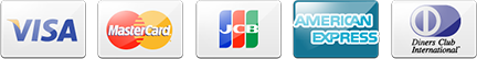 VISA MasterCard JCB AMERICAN EXPRESS Diners Clab