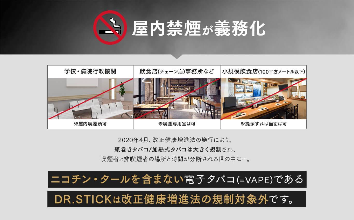 屋内禁煙が義務化