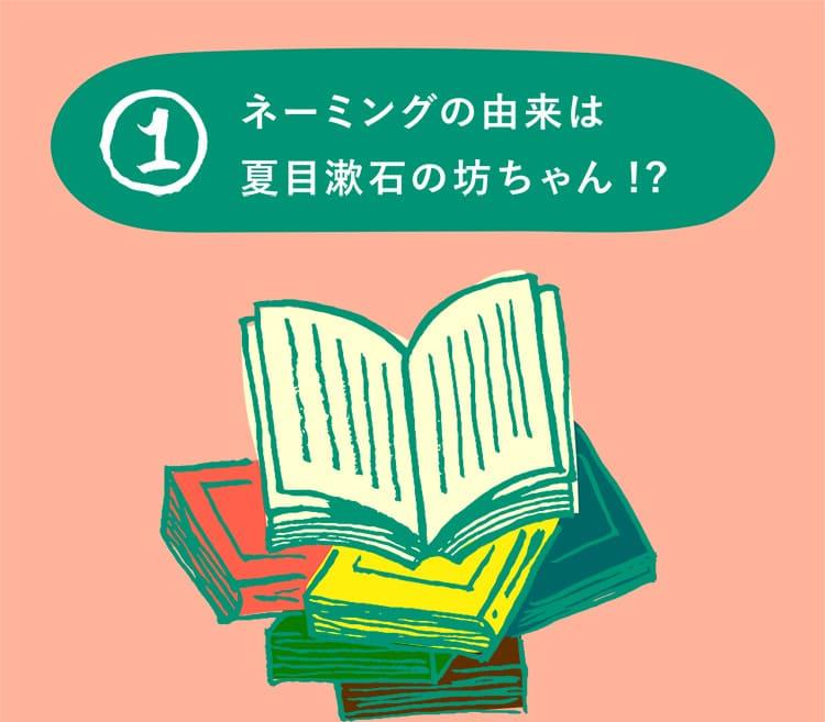 1 ネーミングの由来は夏目漱石の坊ちゃん!?