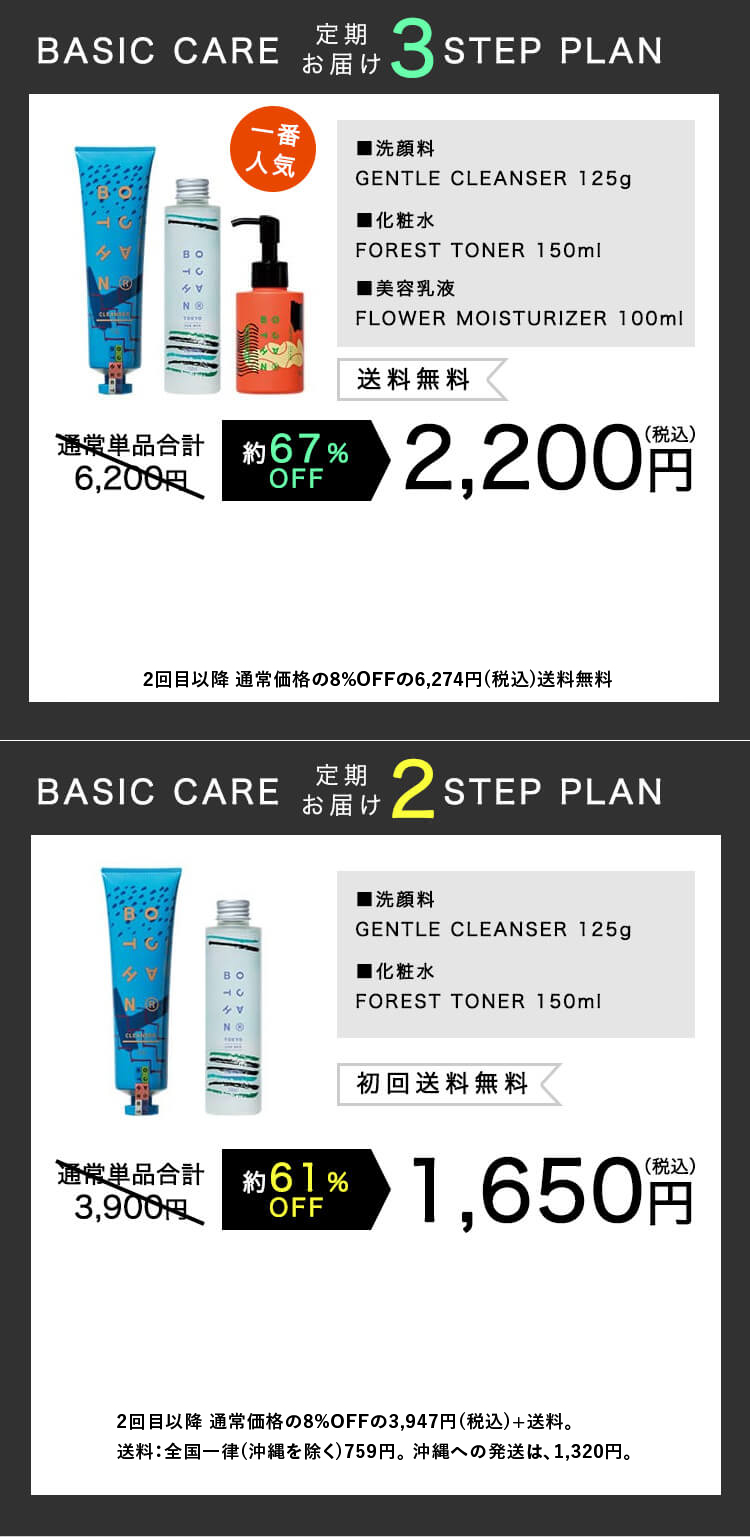BASIC CARE 2-STEP PLAN / BASIC CARE 3-STEP PLAN