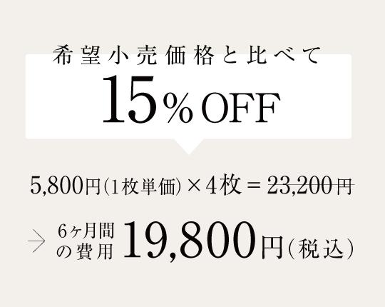 希望小売価格と比べて14%OFF
