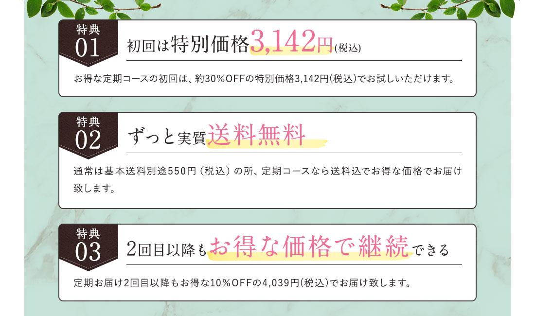 初回は特別価格3,142円(税込)