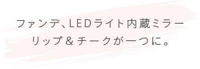 LEDライト内蔵のミラー付き WITH A MIRROR BUILT-IN LED LIGHT
