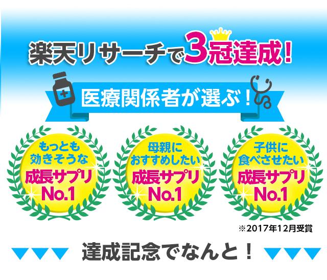 楽天リサーチで3冠達成!!