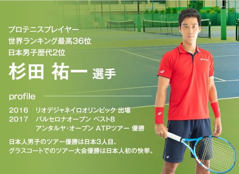 プロテニスプレイヤー世界ランキング最高36位日本男子歴代2位杉田祐一選手
