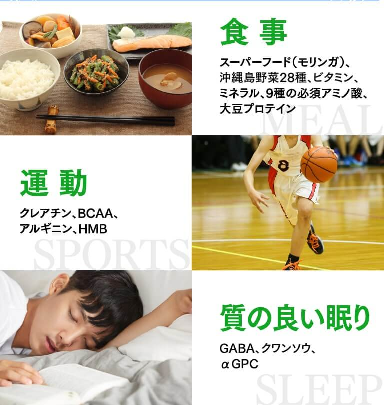 食事・運動・質の良い睡眠