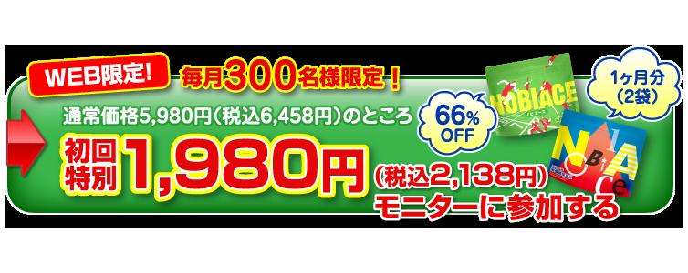 WEB限定!毎月300名様限定1980円モニターに参加する