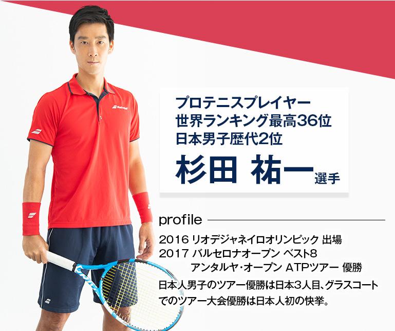 プロテニスプレイヤー世界ランキング最高36位日本男子歴代2 杉田祐一選手