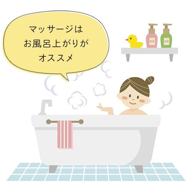 マッサージはお風呂上がりがオススメ