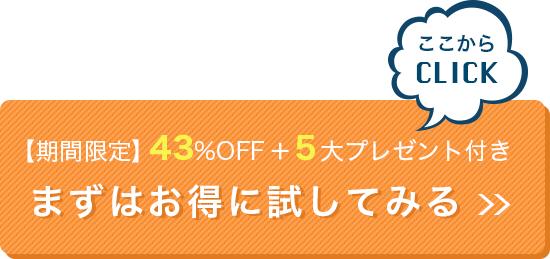 【期間限定】87%OFF+5大プレゼント付き!まずはお得に試してみる