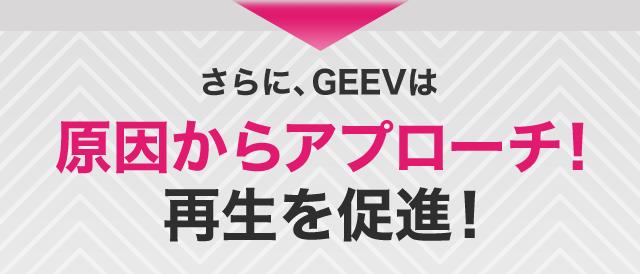 さらに、GEEVは原因からアプローチ!再生を促進!