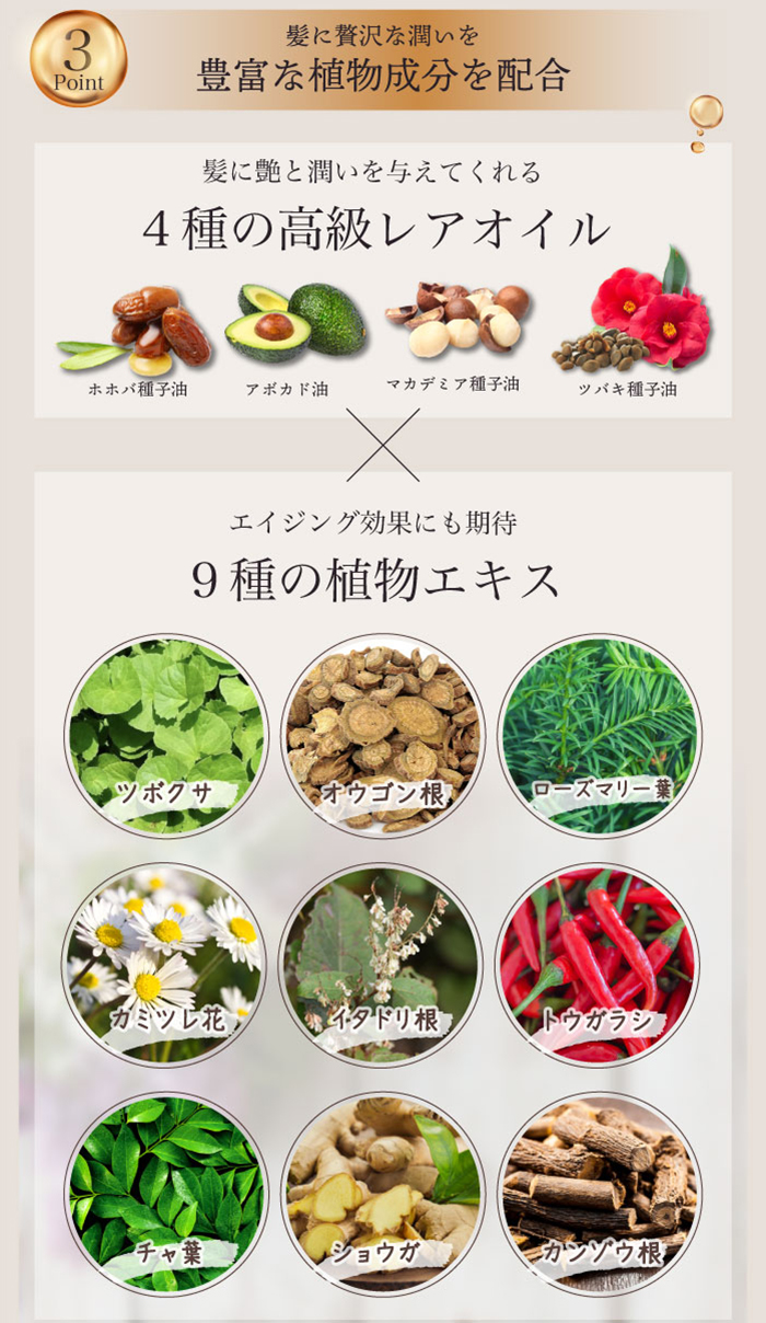 ポイント3 豊富な植物成分を配合