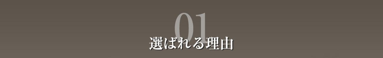 選ばれる理由01