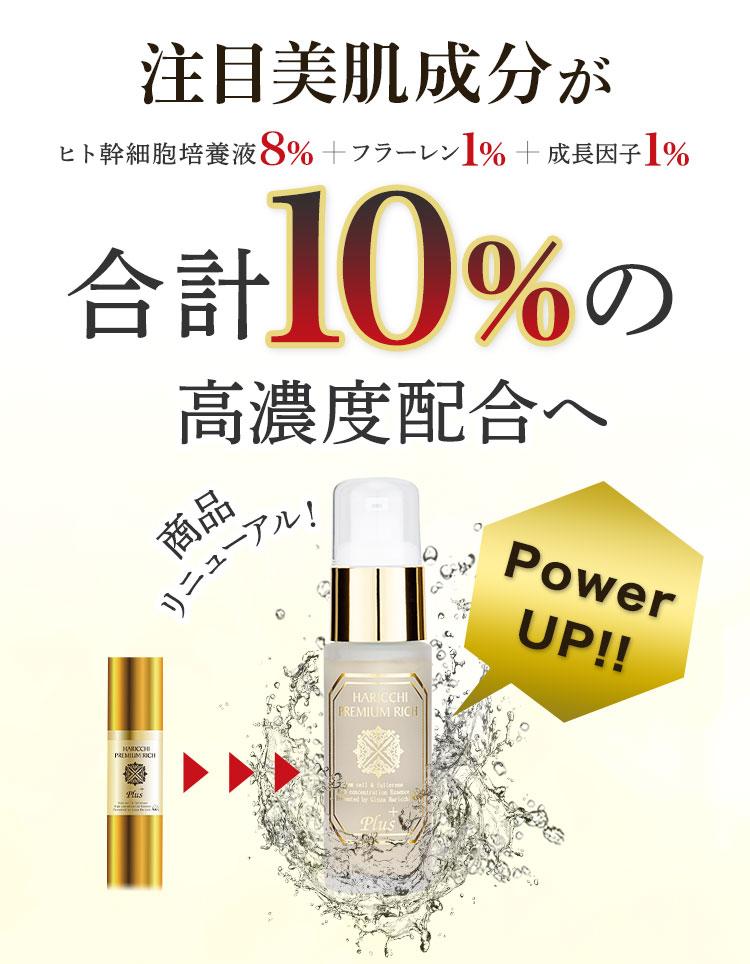 注目美肌成分が合計10%の高濃度配合へ 商品リニューアル Power UP!!