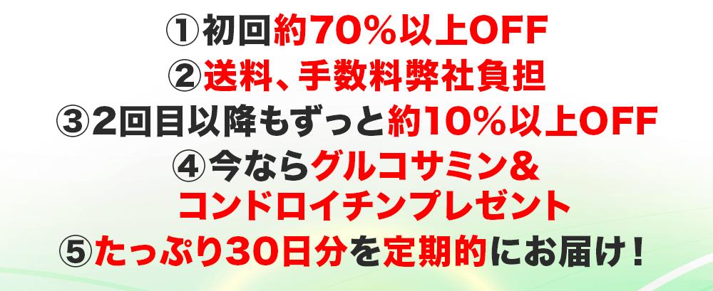 お得な五大特典ならわずか1年で16,000円もお得に!!