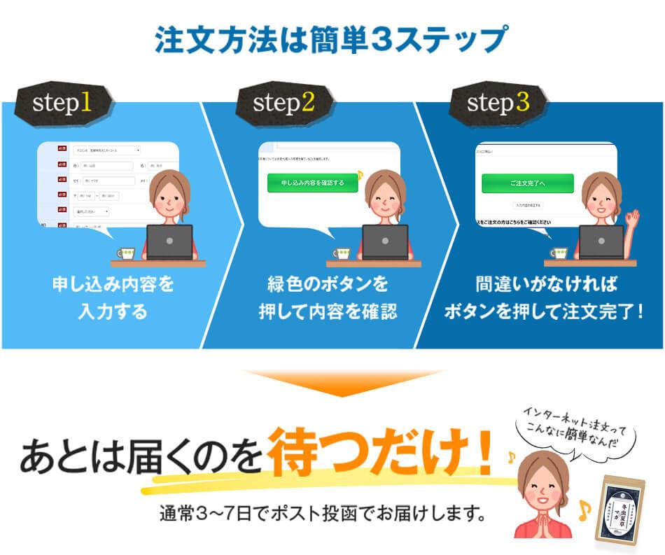 注文方法は簡単3ステップ