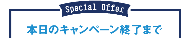 Special Offer 本日のキャンペーン終了まで
