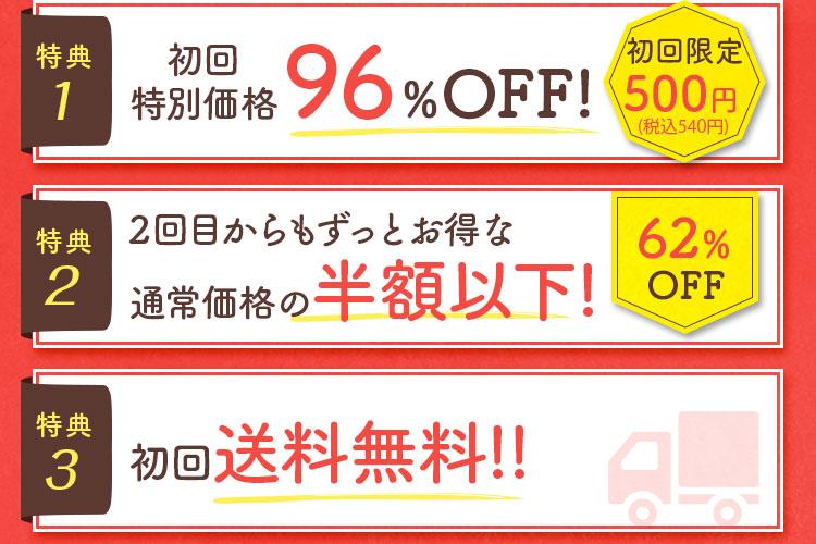 [初回限定 980円]初回特別価格92%OFF!
