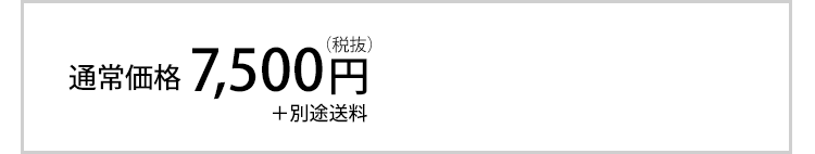 通常価格7,500円(税抜)+別途送料