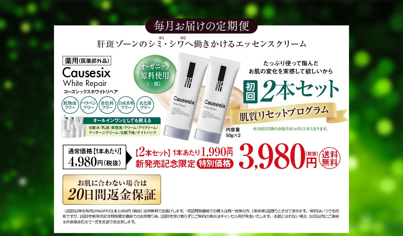 毎月お届けの定期便 初回2本セット 新発売記念限定特別価格 3,980円(税抜)