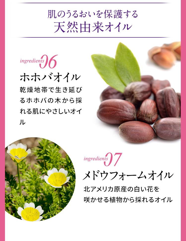 肌のうるおいを保護する天然由来オイル ホホバオイル メドウフォームオイル