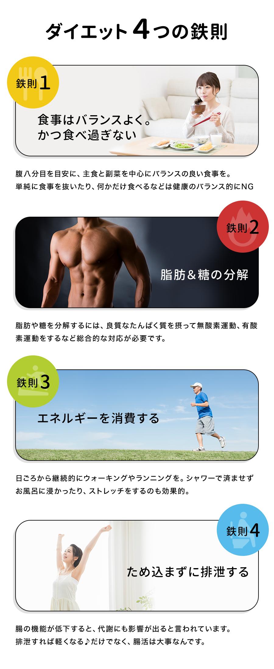 ダイエット4つの鉄則